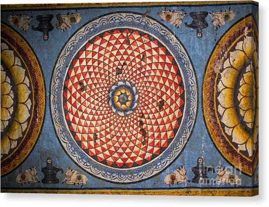 Ceiling Meenakshi Sundareswarar Temple Canvas Print by Aleynikov Pavel