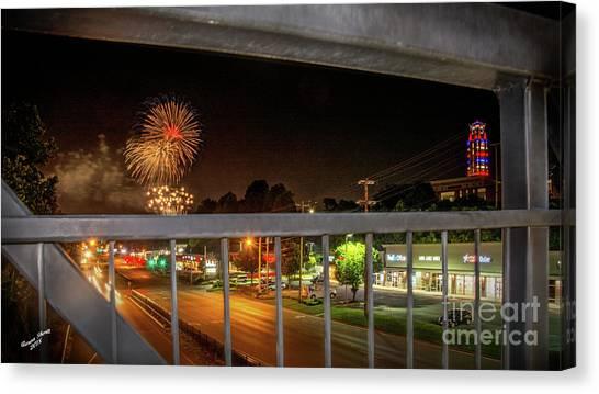 Big South Canvas Print - Celebrate America 2 by Aaron Shortt