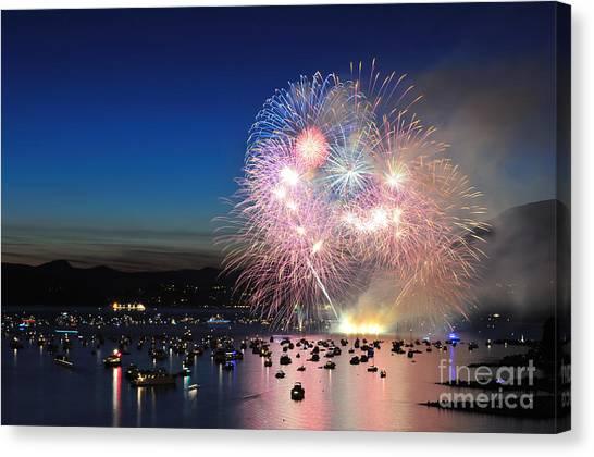 Vancouver Canvas Print - Celebration Of Lights, Fireworks by Lijuan Guo