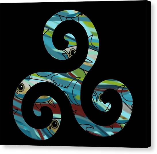 Celtic Spiral 2 Canvas Print