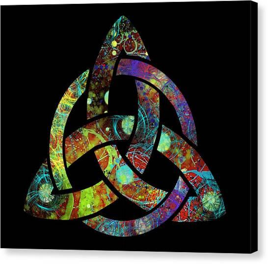 Celtic Triquetra Or Trinity Knot Symbol 3 Canvas Print