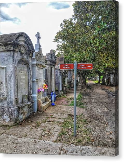 Cemetery #1 Canvas Print