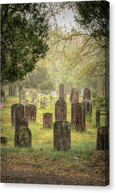 Canvas Print featuring the photograph Cemetery In The Pines by Kristia Adams