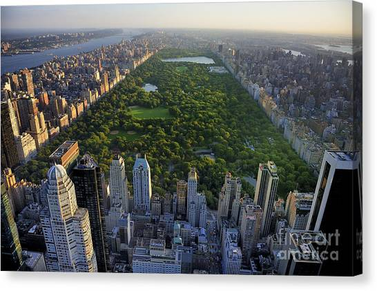 Urban Life Canvas Print - Central Park Aerial View, Manhattan by T Photography
