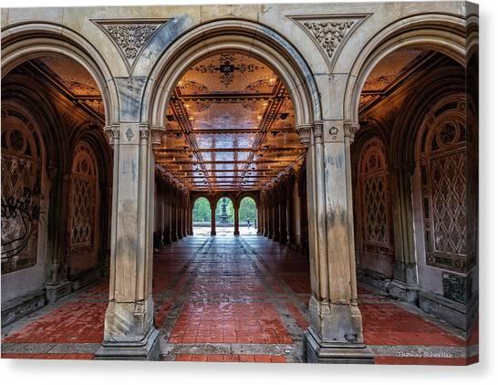 Central Parks Hidden Secret Canvas Print by T-S Fine Art Landscape Photography