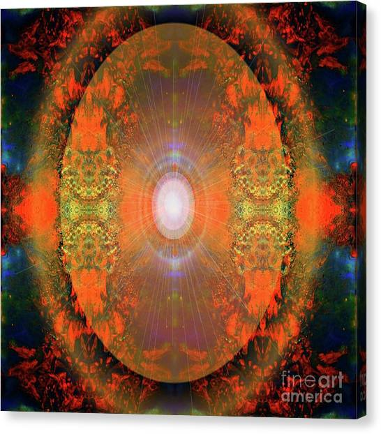 Canvas Print featuring the mixed media Central Sun by Sabine ShintaraRose Art
