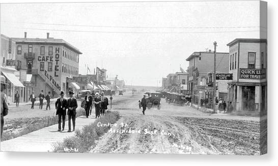 China Town Canvas Print - Centre Street  Assiniboia  Sasketchewan  Ca 1921 by Celestial Images