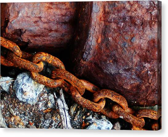 Chained To The Past Canvas Print