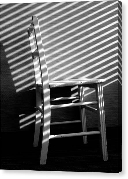 Canvas Print featuring the photograph Blinds 1 / The Chair Project by Dutch Bieber