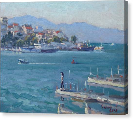 Athens Canvas Print - Chalkida Athens Greece by Ylli Haruni