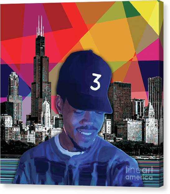 Canvas Print featuring the painting Chance Chicago by Carla B