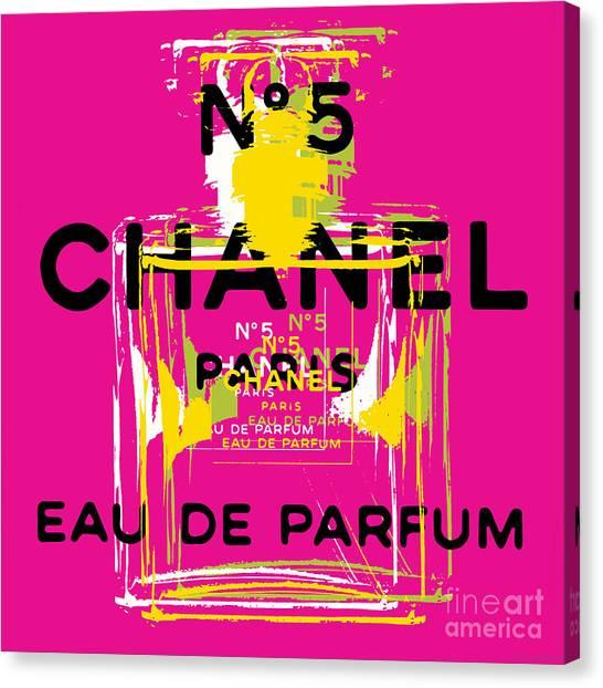 Chanel No 5 Pop Art - #3 Canvas Print