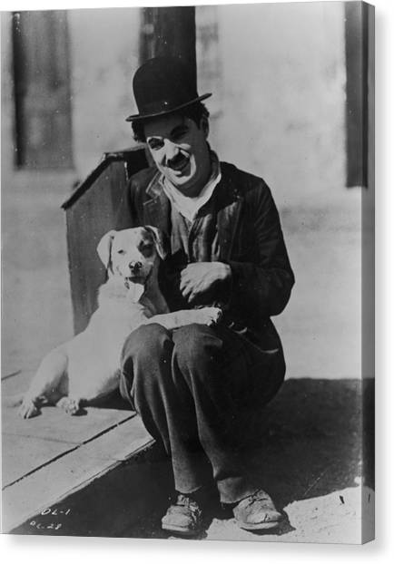 Chaplin And Mutt Canvas Print by Fpg