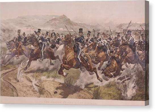 Charge Of The Light Brigade Canvas Print by Fotosearch