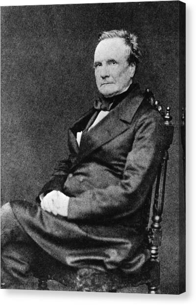 Charles Babbage Canvas Print by Hulton Archive