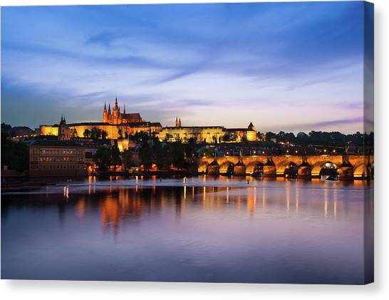 Canvas Print featuring the photograph Charles Bridge by Milan Ljubisavljevic