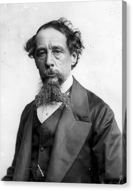 Charles Dickens Canvas Print by Rischgitz