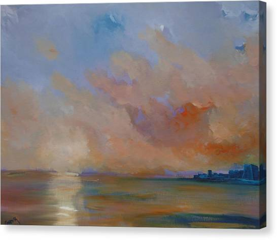 Charles Fort Kinsale Below A Painted Sky Canvas Print by Conor Murphy