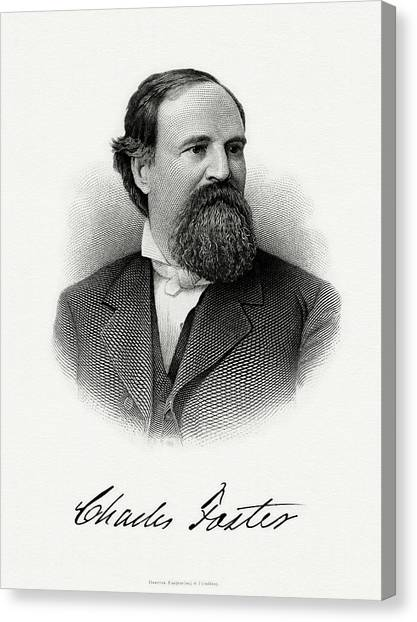 Republican Politicians Canvas Print - Charles Foster by The Bureau of Engraving and Printing