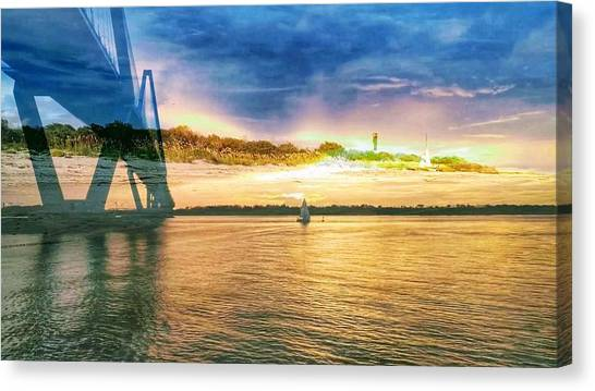 Charleston Harbor Sc Canvas Print
