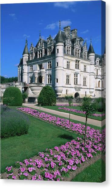 Chenonceau Castle Canvas Print - Chateau De Chenonceau With Catherine De by John Elk