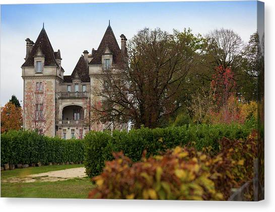 Chateau, Near Beynac, France Canvas Print