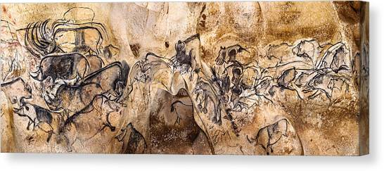 Chauvet Lions And Rhinos Canvas Print