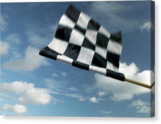 Checkered Flag Canvas Print by James W. Porter
