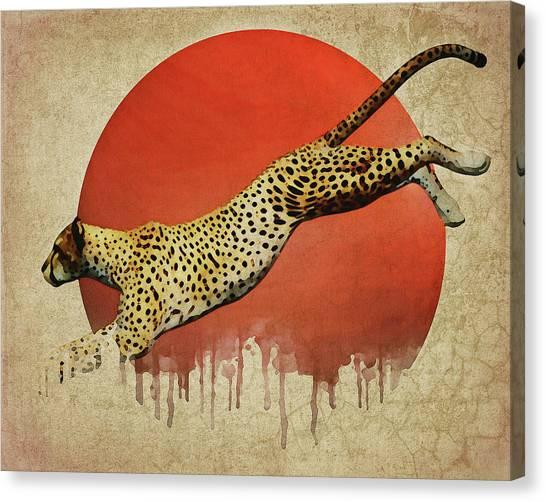 Cheetah On The Run Canvas Print
