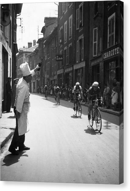Protective Clothing Canvas Print - Chef Toasts Tour by Bert Hardy