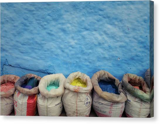 Canvas Print featuring the photograph Chefchaouen by Nicole Young