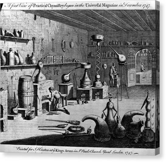 Chemistry Laboratory Canvas Print by Hulton Archive