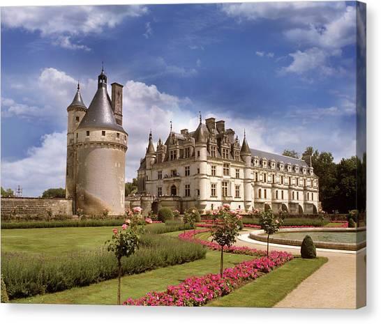 Chenonceau Castle Canvas Print - Chenonceaux Chateau by Images Etc Ltd