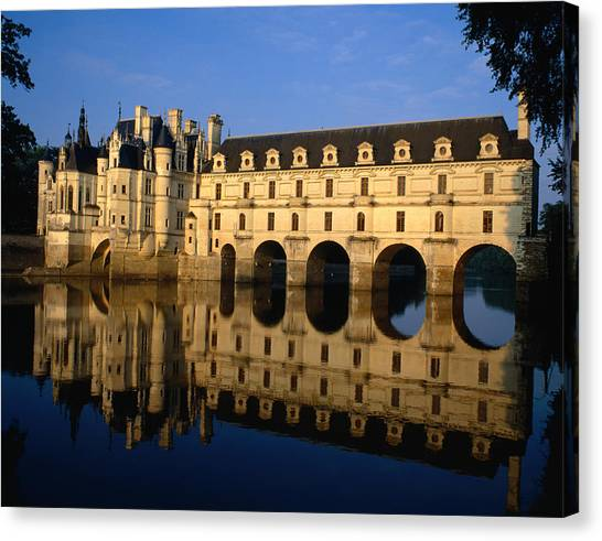 Chenonceau Castle Canvas Print - Chenoncou Castle, Designed By Women, In by Adina Tovy