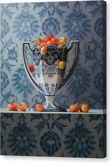 Mvc Canvas Print - Cherries by Mark Van crombrugge