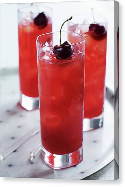 Cherry Cocktail Canvas Print