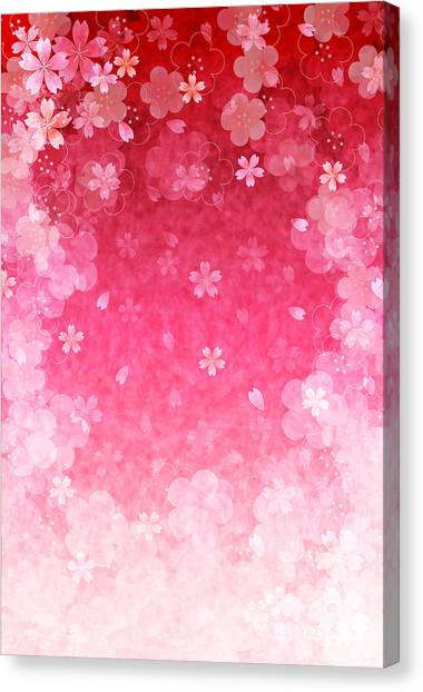 Cherry Blossom Canvas Print - Cherry Plum Greeting Cards by Jboy