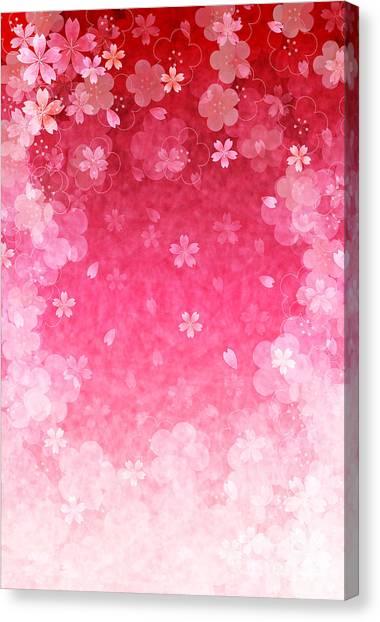 Cherry Plum Greeting Cards Canvas Print by Jboy