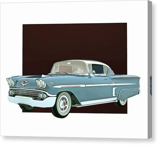 Canvas Print featuring the digital art Chevrolet Impala Special Edition by Jan Keteleer