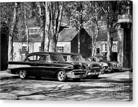 Chevrolets Monochrome Canvas Print by Tim Gainey