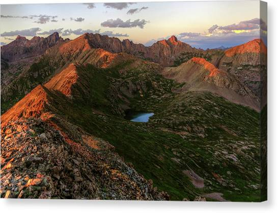 Chicago Basin Sunset Canvas Print by Photo By Matt Payne Of Durango, Colorado