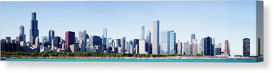Chicago City Grant Park Skyline Usa Canvas Print