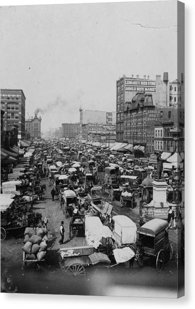 Chicago Haymarket Canvas Print by Hulton Archive