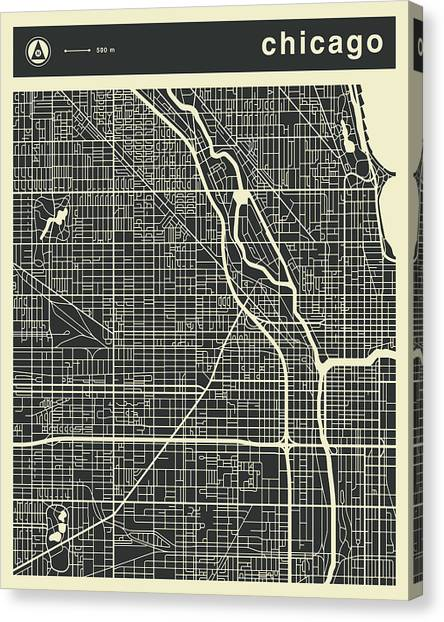 Grant Park Canvas Print - Chicago Map 3 by Jazzberry Blue