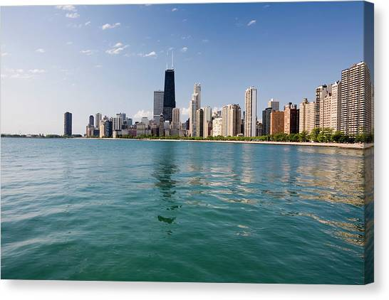 Chicago Skyline From The Lake Canvas Print