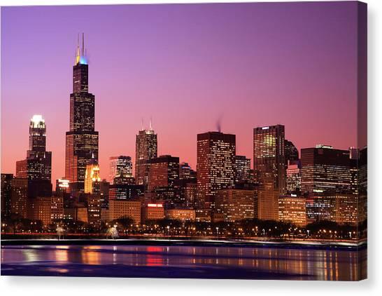 Chicago Skyline, Illinois Canvas Print