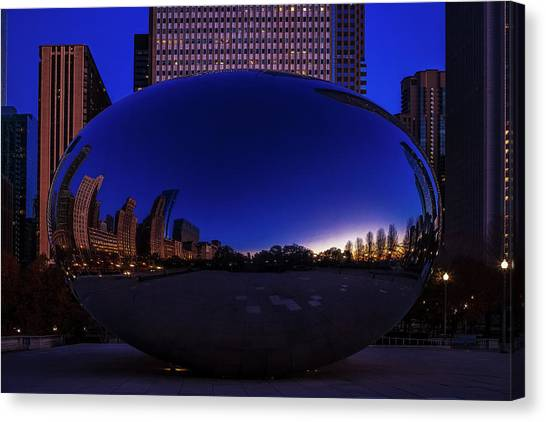Cloudgate Canvas Print - Chicago's Bean by Andrew Soundarajan