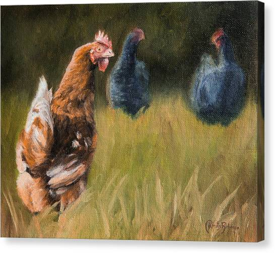 Chicken Farms Canvas Print - Chickens by Kirsty Rebecca