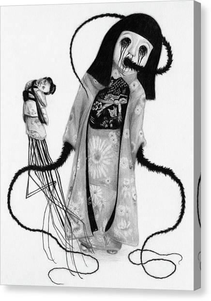 Chikako The Doll Girl Of Kanagawa - Artwork Canvas Print