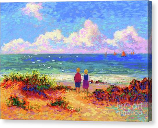 Louisiana Canvas Print - Children Of The Sea by Jane Small